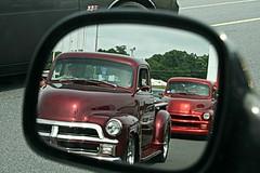 Hot Rod Power Tour - 1954 Chevy Pickup Trucks (osubuckialum) Tags: cars chevrolet truck mirror nc charlotte favorites northcarolina pickup 1954 chevy hotrod kickoff rearview custom myfavorites 54 carshow 2014 hotrodpowertour zmax powertour zmaxdragway hotrodzmaxdragway