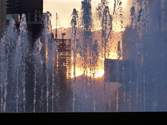 Puesta de sol en Paseo de la Reforma Sunset in Paseo de la Reforma (Raul Jaso) Tags: sunset sun sol fountain mexicana mexico mexicocity df fuente puestadesol fountains sole reforma fuentes mexicano ciudaddemexico mexicodf paseodelareforma