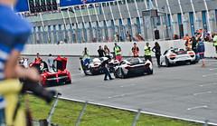 LaFerrari vs P1 vs 918 vs Agera (D.LOS) Tags: racetrack speed grid nikon sunday nederland ferrari spyder mclaren
