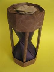 Yuri and Katrin Shumakov's Hourglass (georigami) Tags: paper origami papel papiroflexia
