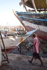 Dry Dock, Hodaidah, Yemen (Rod Waddington) Tags: city dock dry east yemen sailor middle fishingboats yemeni hodaidah