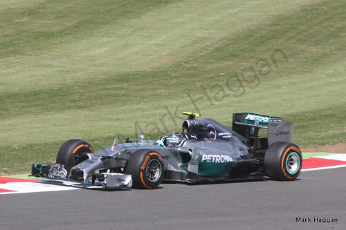 Nico Rosberg in Free Practice 1 at the 2014 British Grand Prix