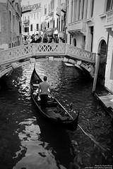 DSCF7900 (opnwong) Tags: bridge cruise venice blackandwhite bw italy white black water canal ngc gondola adriatic vocation 2014