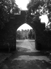 St Donat's Castle (2) (Fragglehound) Tags: castle monochrome wales garden twitter