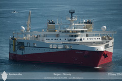 Ramform Atlas (Aviation & Maritime) Tags: norway offshore bergen pgs researchvessel seimsic pgsgeophysicalas ramformatlas seismographicresearcvessel