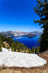 Crater Lake - 147 (www.bazpics.com) Tags: park trip morning blue summer sun mist lake color colour water beautiful june oregon landscape island volcano amazing haze scenery mt unitedstates nps wizard or centre scenic sunny visit clear mount national crater caldera service craterlake rim visitor mazama 2014 supervolcano barryoneilphotography