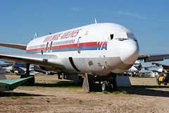 Ex-TWA 707-331B, N8733 (Ian E. Abbott) Tags: aircraft jet boeing 500views 707 boneyard twa airliner boeing707 davismonthan amarc davismonthanafb jetairliner 20062 masdc lostwings amarg derelictaircraft aircraftstorage 707331b desertboneyard aircraftscrapping worldwideairlines cn20062 n8733