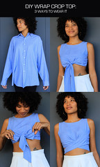wrap_crop_top_diy_wear_it_felted_fox (feltedfox) Tags: blue fashion shirt top sewing tie wrap crop recycle upcycle