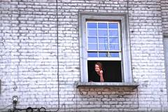 Victory Parade (Herschell Hershey) Tags: woman london cup window corner football north victory parade islington highbury spectator arsenal fa 2014