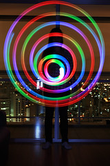 Colorful (Milena Leonel) Tags: city light lightpainting painting circle colorful led poi