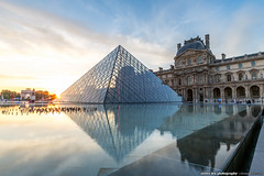 20140623paris-401 (olvwu | ) Tags: city longexposure light sunset sky cloud paris france reflection museum night landscape dusk  musedulouvre louvremuseum    jungpangwu oliverwu oliverjpwu olvwu   jungpang