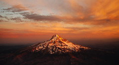 The mountains are calling and I must go.   John Muir (Sara K Byrne) Tags: sunset oregon portland volcano mthood dylandsara
