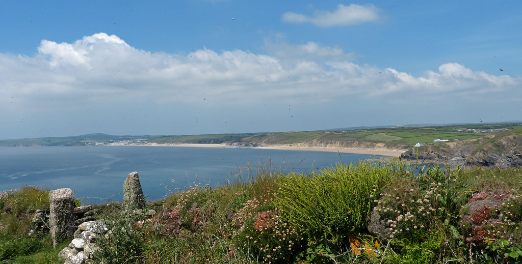 Porthleven Sands From Halzephron Cliff