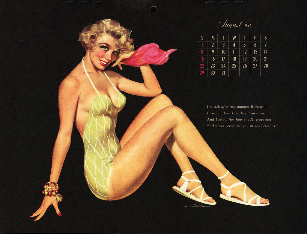 Pin Up Calendar Vintage : The world s best photos of esquire and pinup flickr hive