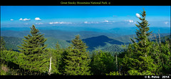Great Smokies Mountains National Park -2 (from Clingsman Dome) (episa) Tags: panorama tennessee northcarolina stitching greatsmokymountainsnationalpark sonydscrx1 summervacation2014