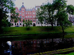 Riga, Latvia. July 5, 2014 (Vadiroma) Tags: city buildings europe capital baltic latvia channel riga 2014 rga latvija baltikum