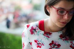 Her Shoulder (jtait_CDN) Tags: city red portrait flower girl glasses day prague outdoor czechrepublic shoulder earing hlavnmstopraha