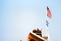 Fujica ST Santa Monica Pier 8 () Tags: california park camera summer west classic film wheel 35mm vintage coast amusement pier losangeles pacific santamonica shift ferris retro roller tilt coaster