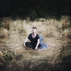 I did not die. (JamPotted) Tags: portrait male grave field grass female death model flickr meetup fineart ghost models conceptual weep fineartphotography sampalmer brookeshaden