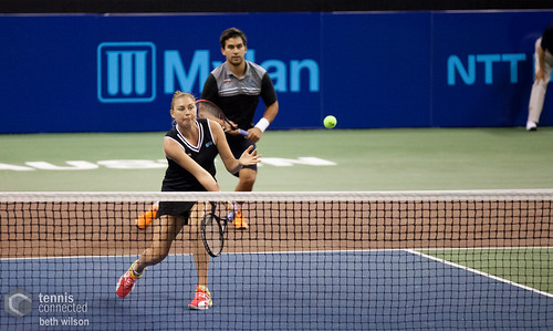 Mixed doubles action