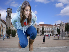giantess (gtsteenlover) Tags: city smile teen blonde giantess