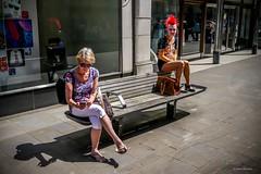 Balance (Silver Machine) Tags: street bench lumix punk candid streetphotography hampshire winchester texting lumixg20mmf17 lumixg5