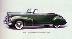 1940 Nash Lafayette Deluxe Convertible Coupe (aldenjewell) Tags: lafayette deluxe 1940 convertible nash brochure coupe