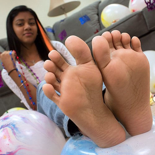 Indian girl feet soles