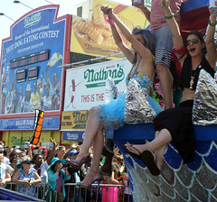 Summer Party (Robert S. Photography) Tags: nyc summer colour brooklyn coneyisland samsung mermaidparade float nathans joyous 2014 paraders st150f