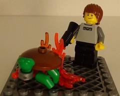 Burn Turtle! Burn! (Hacim Bricks) Tags: tag3 toy fire tag2 tag1 turtle d burn em let tag4 tag5