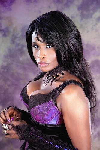 The Actress Queen Sabine Mondestin In Purple