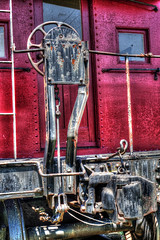 Caboose brake wheel (mrgraphic2) Tags: indianapolis indiana sonyrx10 rx10 hdr caboose red circle train