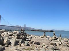Rock piles, San Francisco Bay (drebel66) Tags: sanfranciscobay rockpile rockpiles sanfranciscomarathon sfmarathon