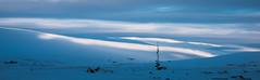 (dawvon) Tags: travel winter sky panorama cloud mountain snow ice nature season landscape iceland twilight europe cloudy nordic northeast ísland godafoss halflight mývatn goðafoss waterfallofthegods snowdunes republicoficeland lakemývatn norðurlandeystra lýðveldiðísland northeasternregion