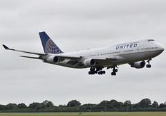 N177UA - United Airlines B747-400 (✈ Adam_Ryan ✈) Tags: united dub jumbojet jumbo americanfootball unitedairlines b747 crokepark dublinairport collegefootball 2014 eidw n177ua b747dublinairport dublinairport2014 b74740