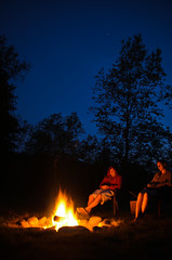 Bonfire (afternoon_dillight) Tags: sky tree silhouette night relax fire star warm glow sit rest