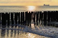 Sunset Westerschelde (Stonebridge65) Tags: sunset sea beach netherlands strand coast zonsondergang nikon nederland zeeland zee sealand kust zeeuwsvlaanderen westerschelde d5100