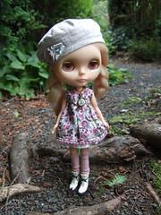Louise on the garden path