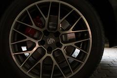 Porsche Macan Turbo (sean.m.c photography) Tags: new red detail wheel emblem logo hotel nikon colorado close spokes fast tire racing turbo german porsche vail brakes luxury rotor caliper macan d3200 sonnenalp