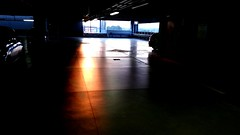 Sunset in a car parking (GuidoCostantini) Tags: life sunset beauty loneliness garage parking soul absence nonlieu nonluogo