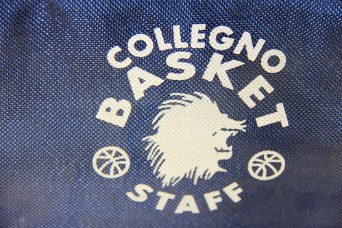 Dettaglio logo borsone staff Collegno Basket