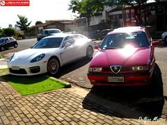 Porsche Panamera GTS & Alfa Romeo 155 Super (Delfino Mattos) Tags: paran car brasil flagra super coche porsche carro alfaromeo 155 londrina gts automvel panamera worldcars