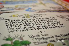 Thror's Map (mechkivskiy_art) Tags: mountain english map dwarf cartography lonely lordoftherings calligraphy thor hobbit tolkien bilbo middleearth thorin runes smaug quenya jrrt erebor throrsmap mechkivskiy mechkivskiyart tolkiencalligraphy manuscriptardalibrary manuscriptardalibraryproject