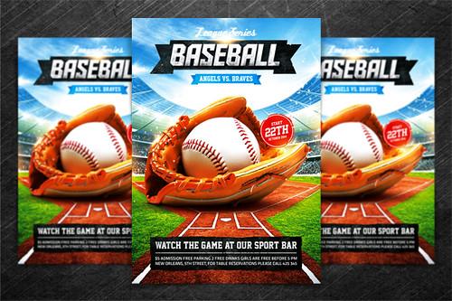 Baseball League Series Flyer PSD Template a photo on Flickriver – Baseball Flyer