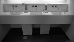 Harpa Toilets!! Reykjavk Delta 100 TD-201 Iceland (Man with Red Eyes) Tags: analog design blackwhite iceland rangefinder toilet reykjavik wash delta100 ilford concerthall harpa homedeveloped baisin silverhalide reykjavkur bessar2s td201 scskopar21mmf4 4mina4minb