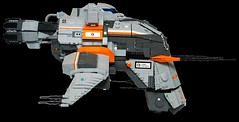 Caldari Hookbill - profile view (MK2) (Brixnspace) Tags: eve ship lego space spaceship frigate moc caldari hookbill shiptember