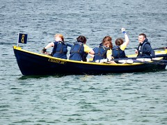 Burra Women's Victory (nz_willowherb) Tags: race boats see scotland tour visit rowing skiff shetland tombolo 2015 bigton stniniansisle to go yoal