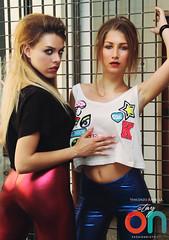 Stay On Models (vince_enzo) Tags: b urban fashion logo model side blonde bella tight ragazza italiana modella canotta pantacollant