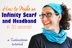 How to make a 30 second infinity scarf and headband! (cucicucicoo) Tags: nosew sewing sew sewingtutorial nosewtutorial headband diyheadband infinityscarf diyscarf diyinfinityscarf tshirt tshirtrefashion tshirtupcycle tshirtrepurpose refashion refashioning refashiontutorial
