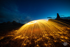 ... (Michelle Pilling Photography) Tags: steel wool spinning san rafael swell desert long exposure light painting utah emery county sparks
